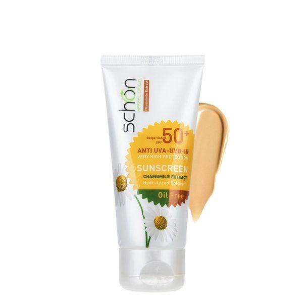 کرم ضد آفتاب مناسب پوست های چرب شون با +SPF50 حجم 50 میلی لیتر - بژ