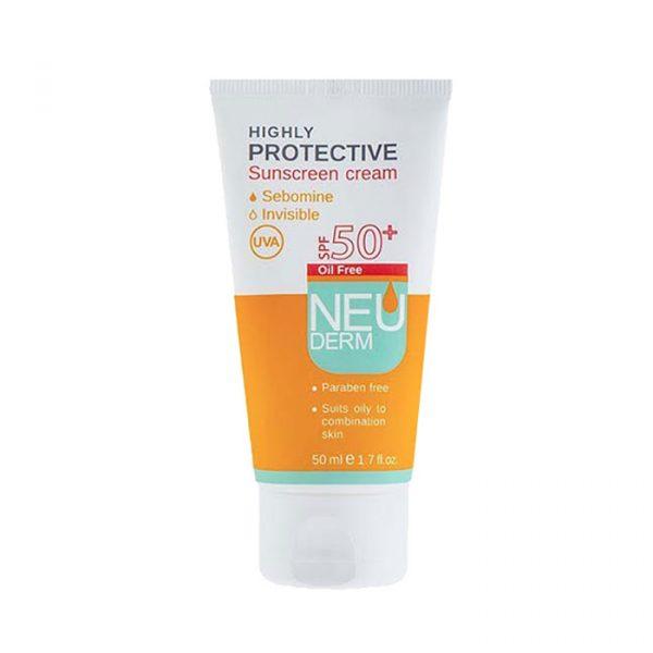 کرم ضد آفتاب فاقد چربی نئودرم با +SPF 50 - بی رنگ