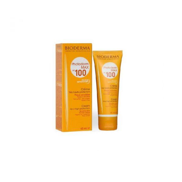 کرم ضد آفتاب بایودرما SPF 100 مناسب پوست حساس-بیرنگ (پوست های نرمال تا خشک )