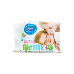 دستمال مرطوب دست و صورت کودک دافی مدل ویتامیلک