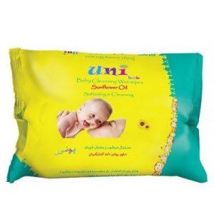 دستمال مرطوب گل آفتابگردان یونی بب مخصوص کودک - بسته 63 عددی