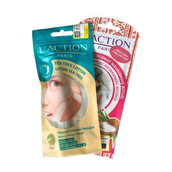لوسیون قلمی ضد جوش عصاره درخت چای لکسیون حجم 10 میل + ماسک و اسکراب تغذیه کننده پوست