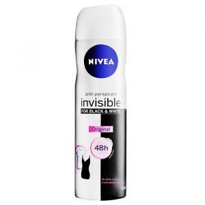 اسپری ضد تعریق زنانه نیوآ مدل Invisible Black And White Fresh