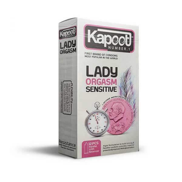 کاندوم کاپوت 12 عددی ليدی ارگاسم - تحريک کننده تاخيری