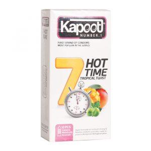 کاندوم کاپوت 12 عددی فروتی تايم يک ساعته - 7 کاره گرم