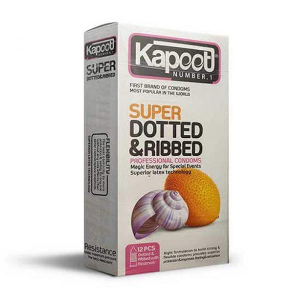 کاندوم کاپوت 12 عددی خاردار درشت super dotted & ribbed