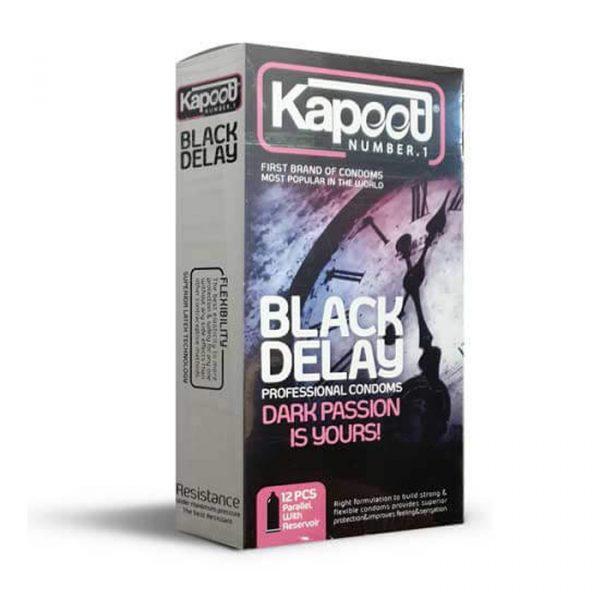 کاندوم کاپوت 12 عددی مشکی تاخیری