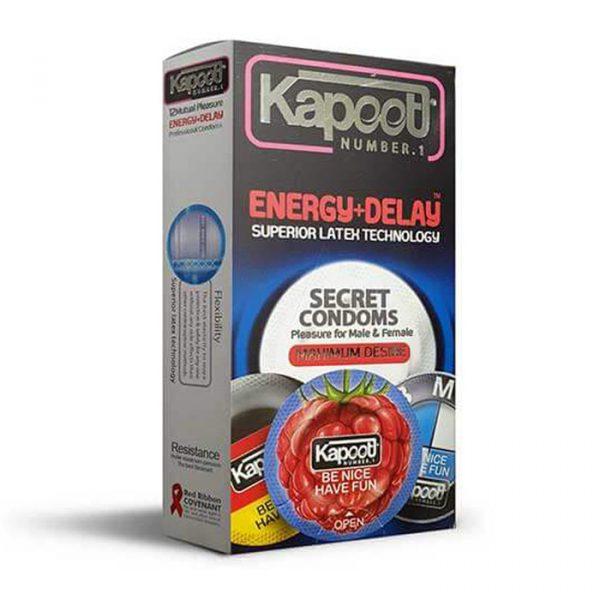 کاندوم کاپوت 12 عددی تاخیری انرژی مدل بسته بندی گرد