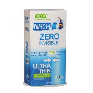 کاندوم کدکس 12عددی نازک مدل Zero Invisible - Ultra thin