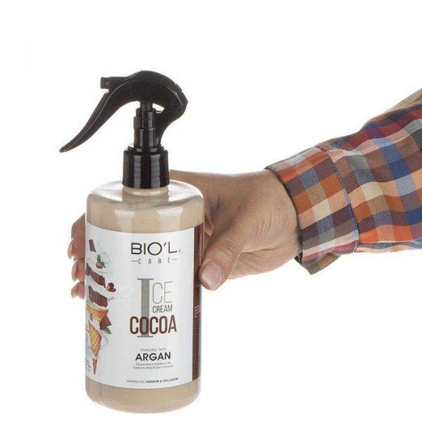 اسپری تقویت کننده مو بیول حاوی عصاره بستنی شکلاتی حجم 400 میلی لیتر