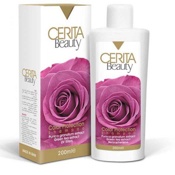 شامپو محافظ رنگ مو مناسب برای انواع مو سریتا