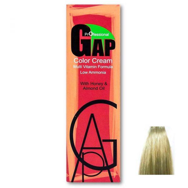 رنگ مو گپ سری زیتونی مدل بلوند زیتونی خیلی روشن شماره 10.2