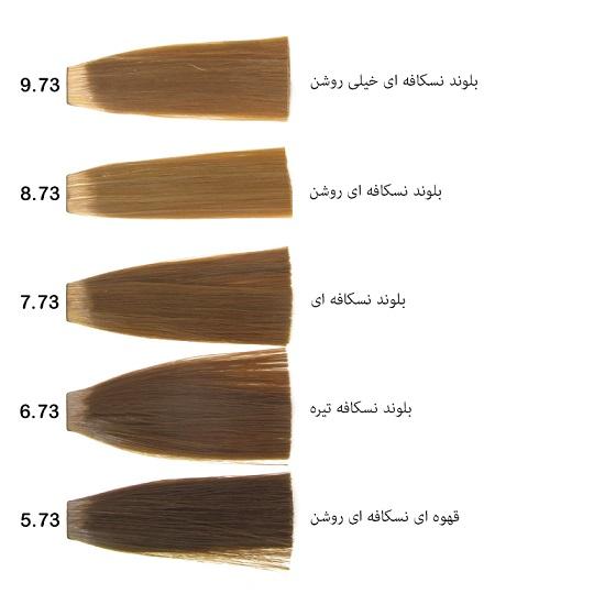 رنگ مو گپ سری نسکافه ای مدل بلوند نسکافه ای خیلی روشن شماره 9.73