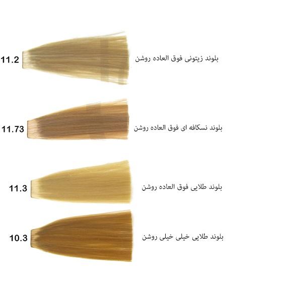 رنگ مو گپ سری نسکافه ای مدل بلوند نسکافه ای خیلی خیلی روشن شماره 11.73