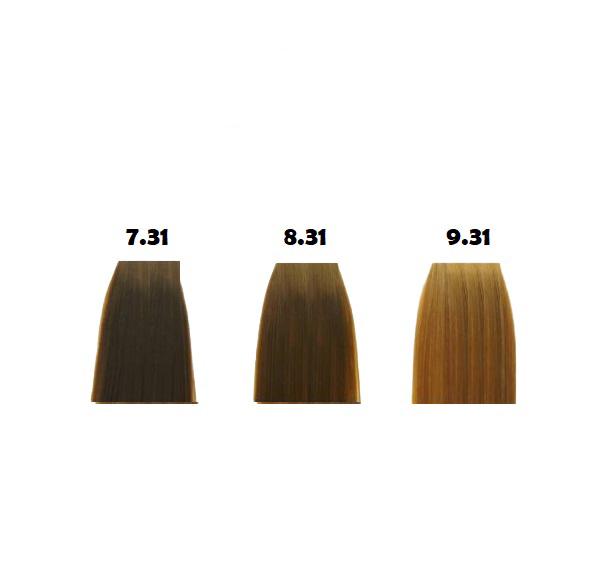 رنگ مو گپ سری بژ مدل بلوند بژ شماره 7.31