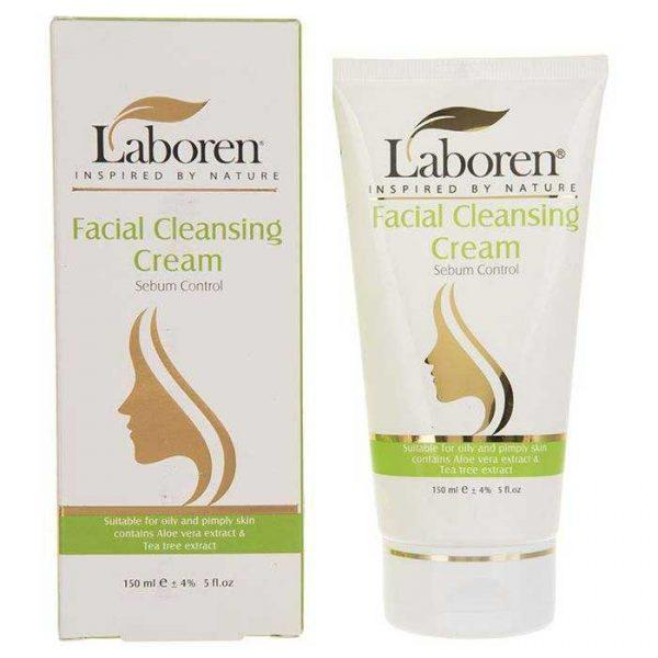 کرم پاک کننده آرایش مخصوص پوست چرب و جوش دار لابورن حجم 150 میلی لیتر