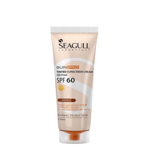 کرم ضد آفتاب رنگی فاقد چربی سی گل با SPF 60 حجم 50 میلی لیتر - برنز
