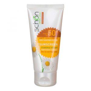 کرم ضد آفتاب مناسب پوست های خشک تا نرمال +SPF50 شون 50 میلی لیتر - رنگ بژ