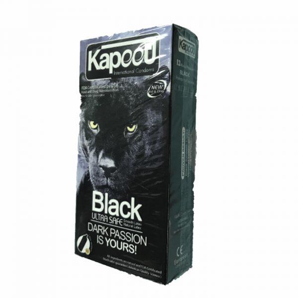 کاندوم 12 عددی مشکی کاپوت Black