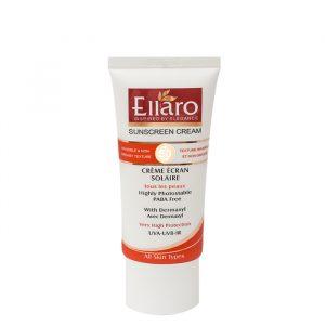 ضد آفتاب بی رنگ اِلارو با SPF50 حجم 50 میلی لیتر