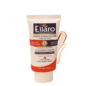 كرم ضد آفتاب الارو SPF25 با پوشش كرم پودري مناسب انواع پوست رنگ بژ روشن