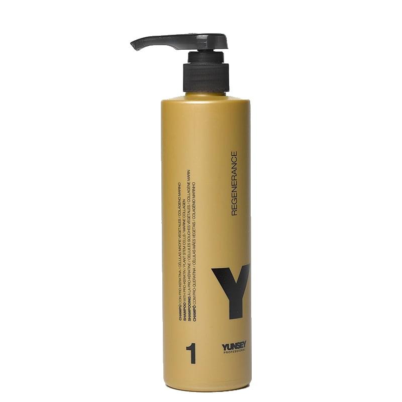 شامپو احیا کننده مو بعد از کراتین کلاژن یانسی پروفشنال مدل Regenerance