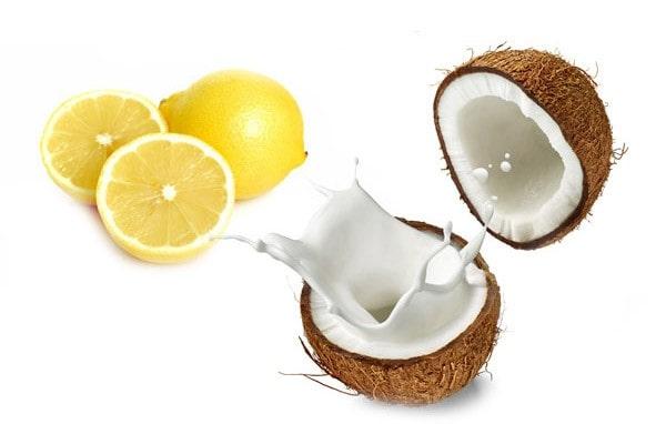 ماسک لیمو و نارگیل برای درمان سیاهی دور چشم