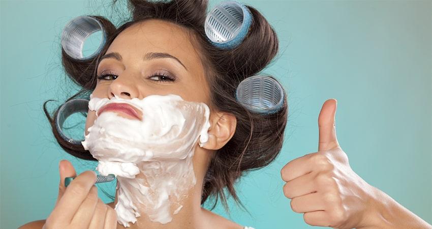 افزایش ریش با تیغ