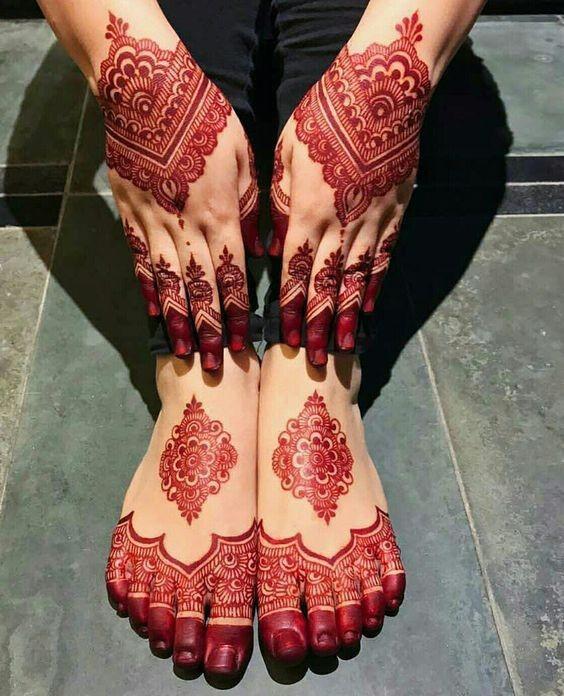آموزش طرح حنا هندی روی دست و بدن