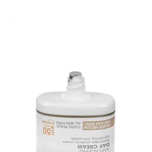 کرم ضد آفتاب و ضد چروک درمدن سری Day Protocole Spf50 مناسب انوع پوست حجم 50 میلی لیتر - رنگی