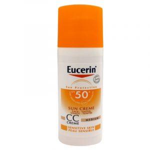 کرم CC ضد آفتاب رنگی SPF50 پوست حساس اوسرین 50 میلی لیتر (بدون جعبه)