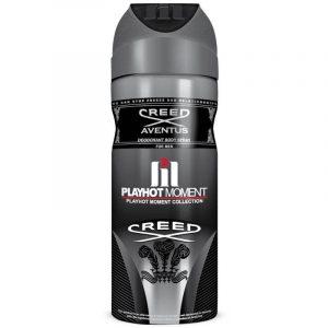 اسپری دئودورانت مردانه پلی هات مومنت مدل Creed Aventus حجم 200 میل