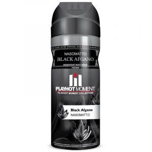 اسپری دئودورانت مردانه پلی هات مومنت مدل Nasomatto Black Afgano حجم 200 میلی لیتر