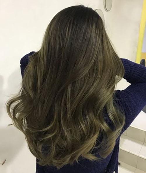 رنگ موی زیتونی بدون دکلره