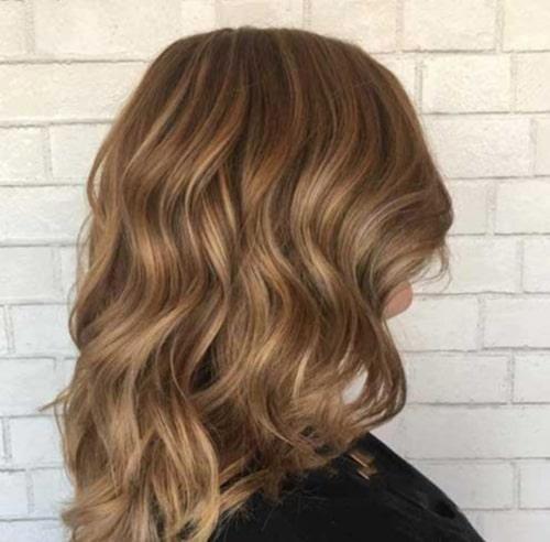 ترکیب رنگ موی عسلی زیتونی
