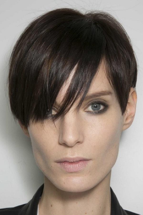 مدل موی کوتاه دخترانه برای صورت مستطیل