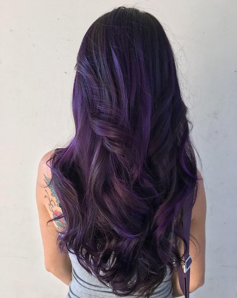 رنگ موی ارغوانی