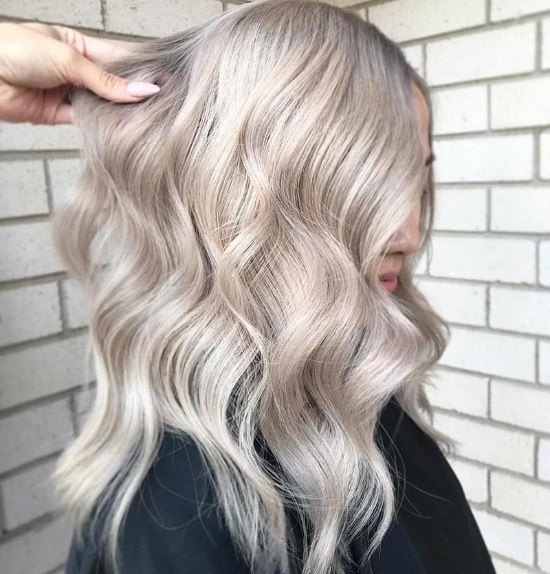 رنگ موی سفید پلاتینی