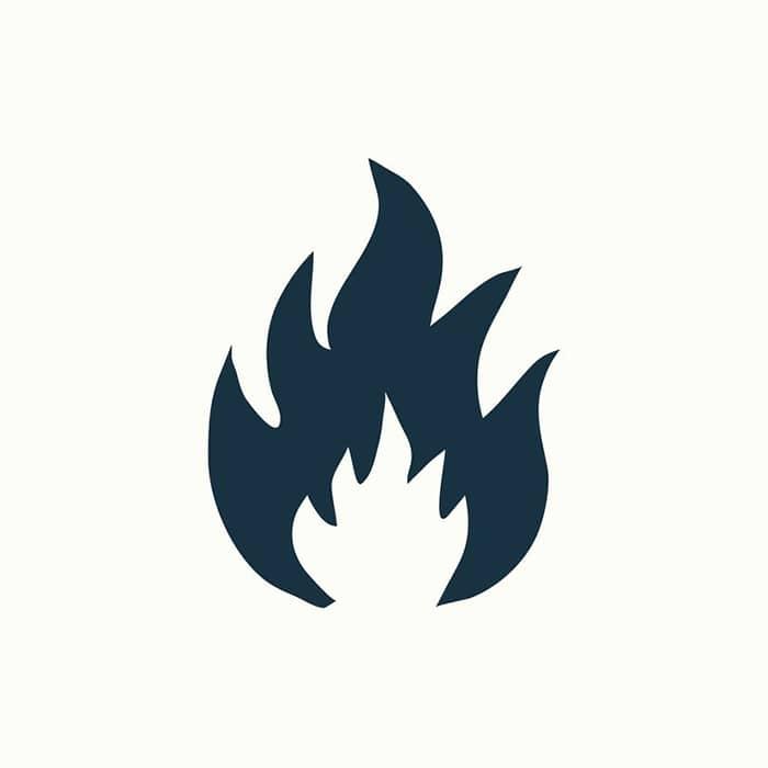 علامت شعله باز