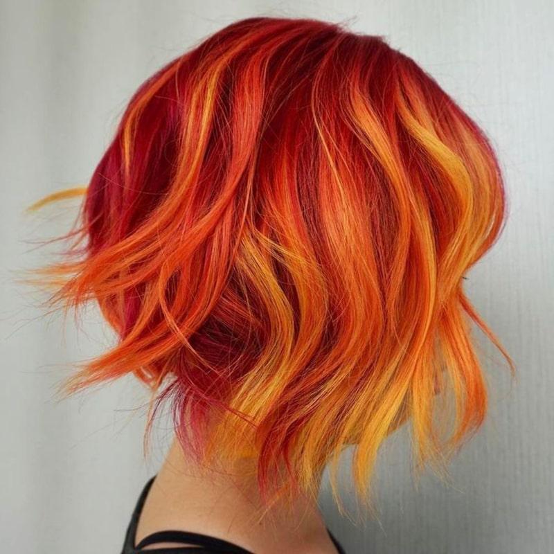 رنگ موی ترکیبی مخصوص فصل زمستان
