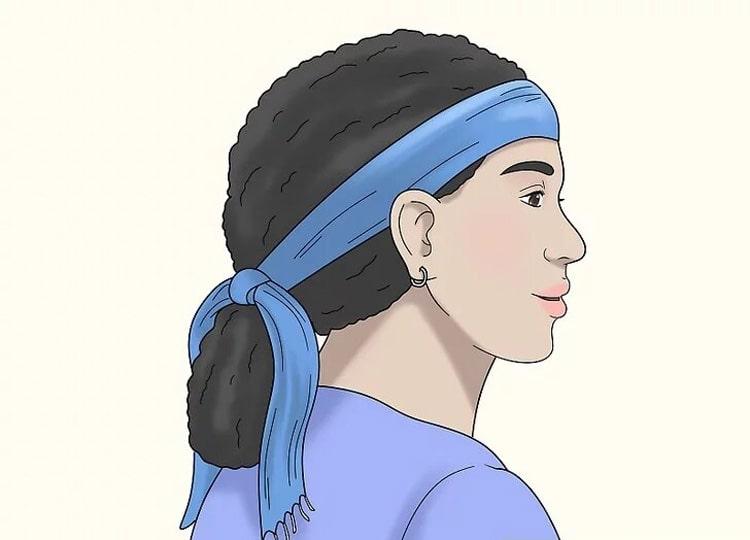 بستن مو با روسری