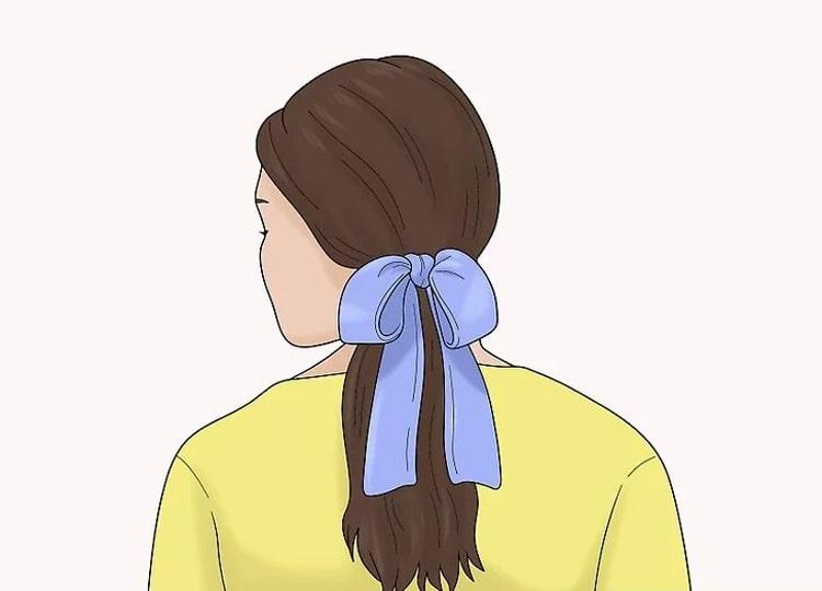 بستن موها با پاپیون