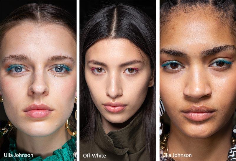 استفاده از ریمل رنگی ترند آرایش پاییز و زمستان