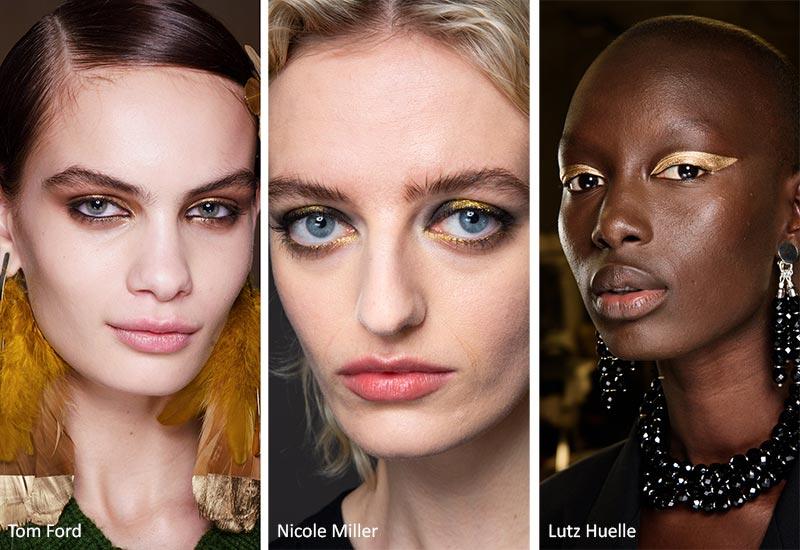 مدل آرایش صورت طلایی