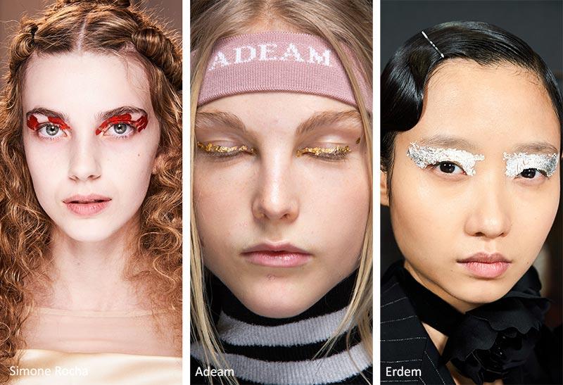 استفاده از زرورق در مدل آرایش صورت فشن شوها