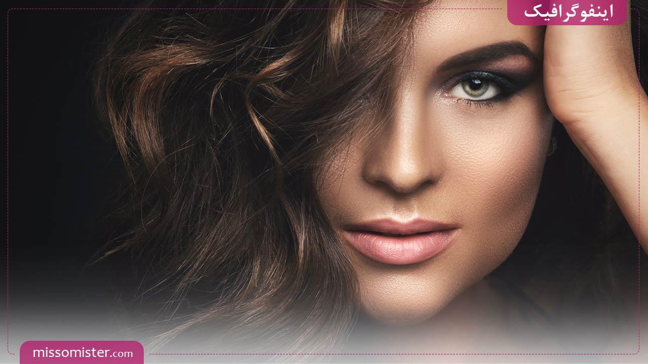 نکات ضروری که برای آرایش پوست سبزه باید بدانید – [اینفوگرافیک]