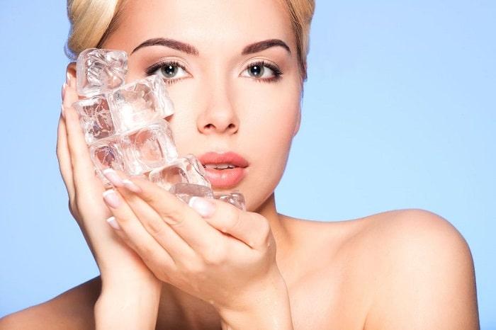یخ برای درمان جوش زیر پوستی