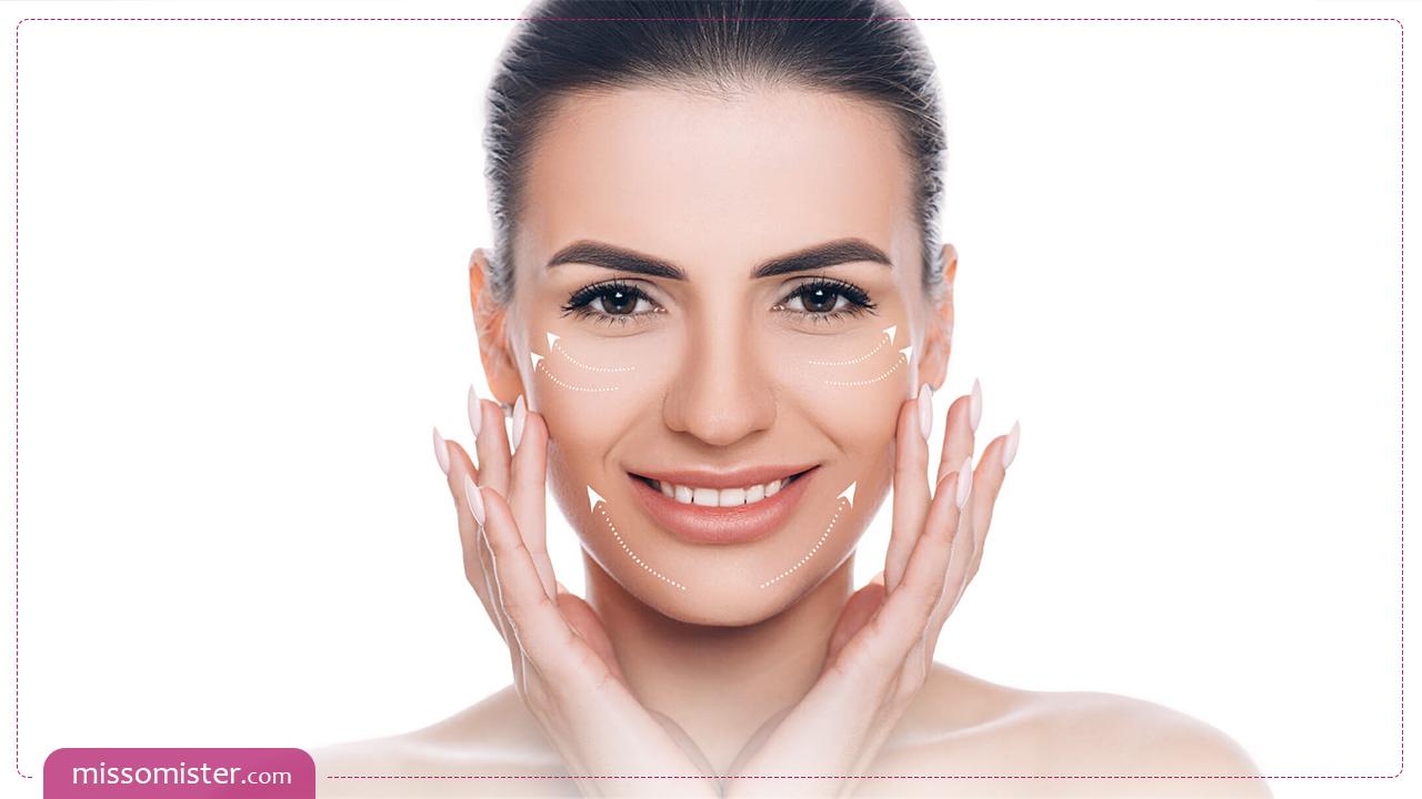 بهترین روش های خانگی و پزشکی برای درمان افتادگی پوست صورت