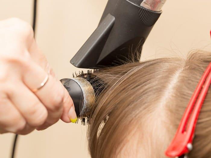 آموزش حالت دادن مو به زیر