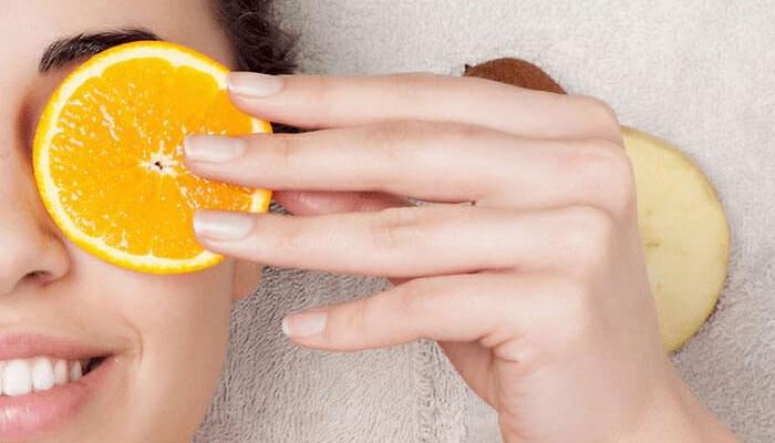لایه برداری صورت با پرتقال